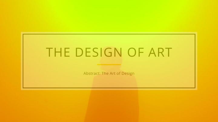 The Design ofArt
